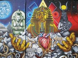 Mural at Dorsey High School in Los Angeles